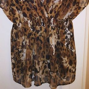 Pure Energy Tops - Pur Energy Leopard Top